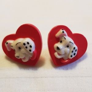 Disney 101 Dalmation Heart Earrings